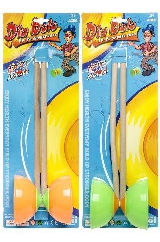 wuselwelt 040039 - Juego de diábolo, juego de mesa, juego de habilidad, también ideal para cumpleaños infantiles