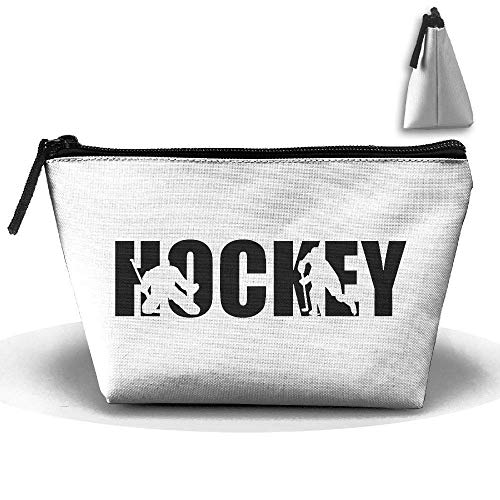 Hockey Player Decorative Waterproof Trapezoidal Bag Cosmetic Bags Makeup Bag Large Travel Toiletry Pouch Portable Storage Pencil Holders