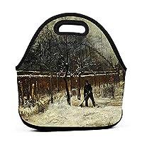 Winter In The Mansion Garden 保温再利用可能おポータブル弁当箱ランチトートバッグ食事袋子供大人ユニセックス