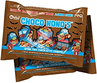 No Whey Foods - Spook Free Choco No No's (2 Pack) - Allergy Friendly and Vegan Chocolate Halloween Candy - Dairy Free, Nut Free, Peanut Free, Gluten Free