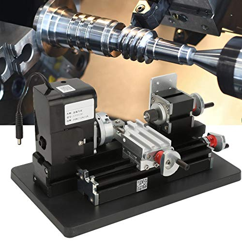Read About Mini Lathe, 24W Mini Metal Lathe 20000RPM Motor for Soft Metal Plastic Acrylic