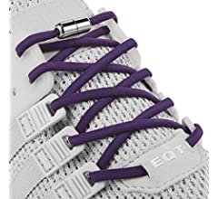 2 Pairs anan520 No Tie Elastic Shoelaces for Adults,Kids,Elderly System with Elastic Laces