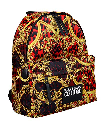 Versace Jeans Couture men Leo chain backpack rosso