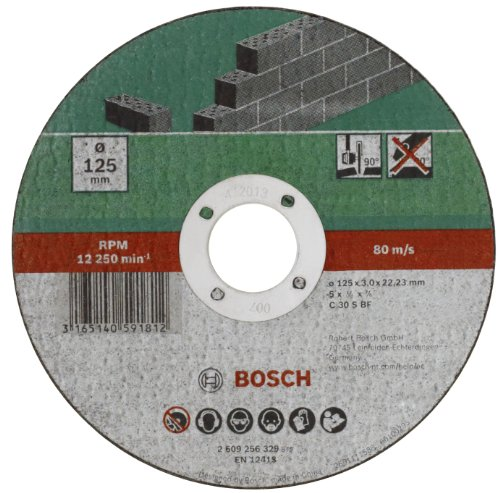 Bosch Mola da Taglio Dritta per Pietra, 115 X 22,23 X 3 mm
