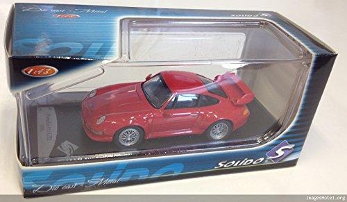 Générique Voiture 1/43 Compatible avec Porsche 911 GT2 1996 Rouge - SOLIDO 1/43