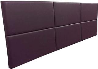 Cabeceira Estofada Queen Bloco Alce Couch Corino Bordô 160cm