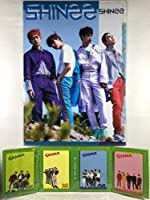 SHINee シャイニー グッズ / A4 クリアファイル + 4つ折り メモパッド (4連 メモ帳) セット - A4 Size Clear File Folder + Quarto Memo Pad (Mini Book Style) [TradePlace K-POP 韓国製]