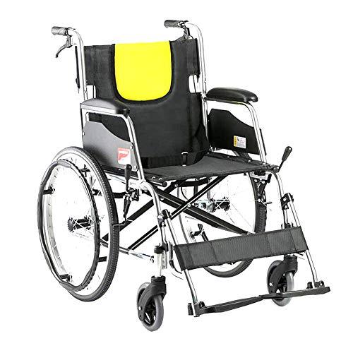 CANDYANA Faltender Rollstuhl-Leichter Fahrender medizinischer Erwachsener voller stützender älterer Multifunktionsrollstuhl-Roller,Schwarz