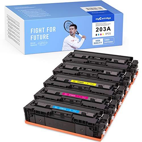 MyCartridge 5 Toner Kompatibel zu HP 203A CF540A - CF543A für HP Color Laserjet pro MFP M281fdw M280nw M281fdn M254nw M254dw (2xSchwarz 1xCyan 1xMagenta 1xGelb)