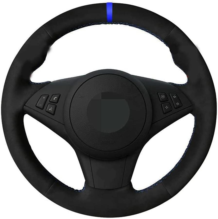 NIUASH Complete Free Shipping Japan Maker New Car Hand-Stitched Steering Wheel Cover Fit E6 for E60 BMW