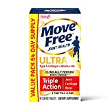 Type II Collagen & Boron - Move Free Ultra Triple Action Joint Support Tablets (64 Count in A Box), for Joint Comfort, Supports Healthy Bones, Helps Preserve and Maintain Cartilage, 1 Tiny Pill A Day