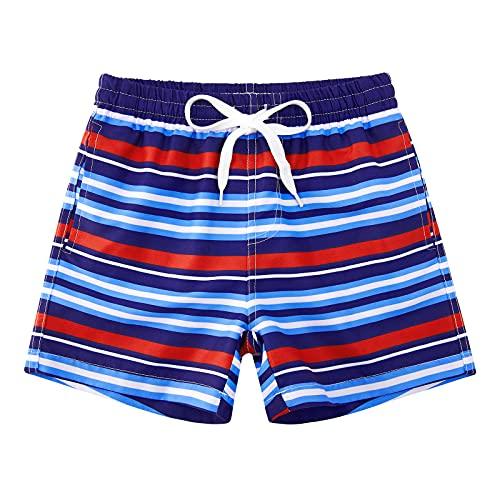 Idgreatim Jungen Badehosen Bench Badehose Badeshorts Urlaub Shorts Streifen Badeanzug Schnelltrocknend Joggen