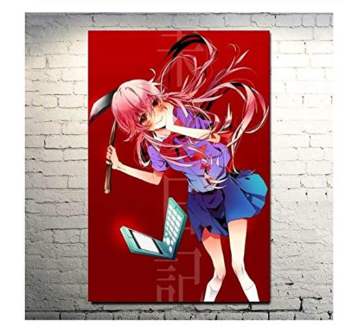 H/T Canvas Nordic Pictures Anime Future Diary Future Nikki Wall Painter Home Decoration Painting Printing Poster Living RoomFrameless50x70cm R4185