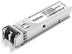 SFP Module, YuanLey 1.25G 1000Base SX Multi Mode LC Interface, 550M 850nm, Compatible for Cisco, Netgear, Ubiquiti, TP-Link, D-Link, Linksys, Mikrotik and Other Open Switches