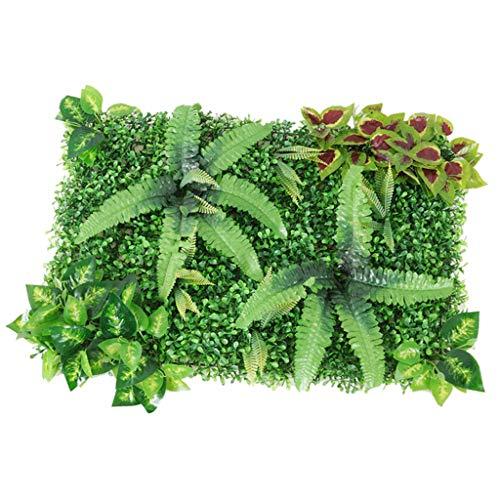 Sharplace Panneau Artificiel Tapis Patio Pelouse Synthétique Panneau Hedge Faux Gazon - Vert E