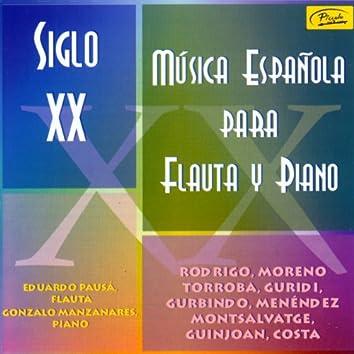 Música Española Para Flauta y Piano. Siglo XX