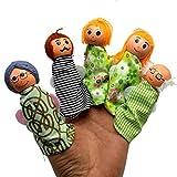 duquanxinquan Personnes Membres de la Famille Marionnettes Jouets à Doigts Poupées Mignonnes,Marionettes à Doigts de Noël,Idéal comme Cadeau de Pochette Surprise pour Enfants, Spectacles,Jeux,Écoles