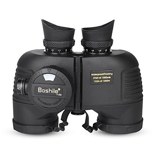 Ever Binocolo telemetro, 7 x 50 binocolo telemetro Binocolo binocolo per Visione Notturna Binocolo Esterno per binocolo Militare Impermeabile per Visione Notturna con Bussola telemetro
