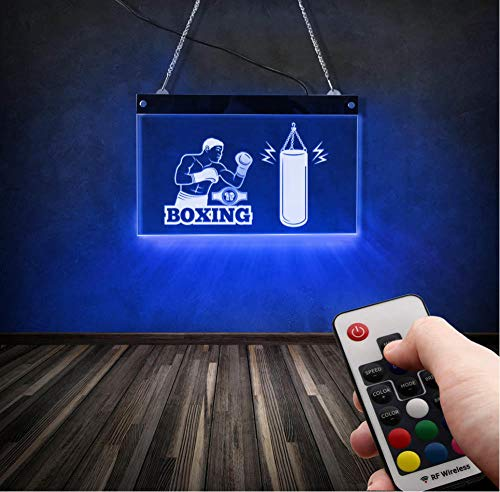 Jkxiansheng Gym Wandkunst Boxer Handschuhe Home Decor Boxen Kampfsport Hanging Fighter Boxsack Nachtlicht Led Neon Sign