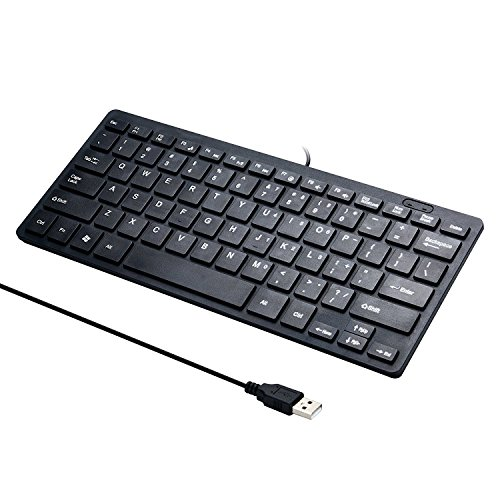 MCSaite Mini 78 Keys Wired Keyboard - with Keyboard Cover Computer keypad for Laptop MAC Windows 10/8 / 7 / Vista/XP(White+Keyboard Film)