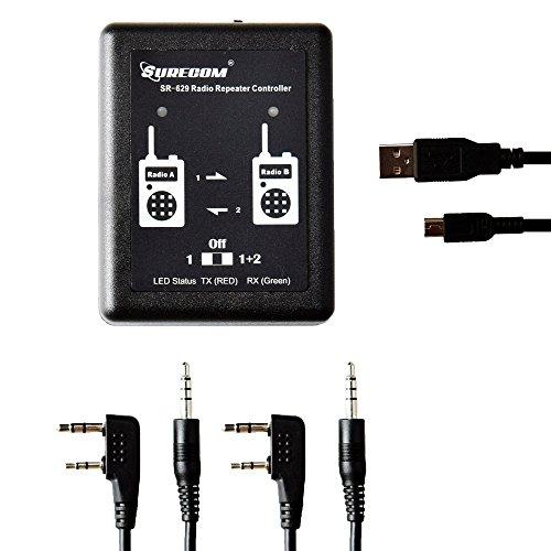 Gam3Gear Surecom SR-629 2 en 1 dúplex controlador de radio-repetidor de banda cruzada Radio Cable para walkie talkie