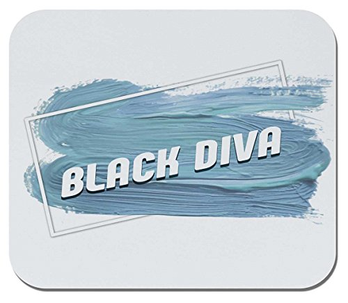 Makoroni - Black Diva - Non-Slip Rubber Gaming Office Mousepad, g52