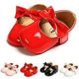 Infant Baby Girl Red Shoes Bowknot Princess Mary Jane Wedding Dress Shoes Soft Sole Newborn Crib Shoes