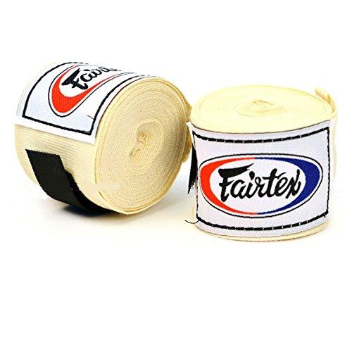 Fairtex!! HW2 - Fascia da boxe in cotone, 4,5 m, colore: Panna