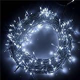 Guirnalda de luces LED (2 ledes, 22 m, 8 modos, IP44), color blanco