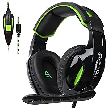 PS4 Gaming Headset for Xbox One Over Ear Headphones with Mic Noise-canceling Microphone for Ps4 Laptop Mac Tablet