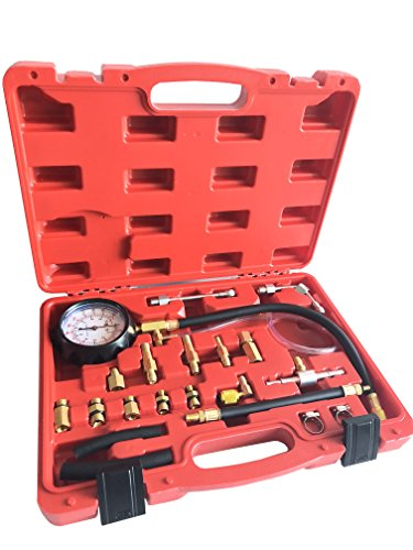 GooMeng 0-140 PSI Fuel Injection Pressure Tester Kit,Automotive Fuel Test kit,with Case for Gasoline-Driven Car,Truck,RV,SUV & ATV(TU-114)