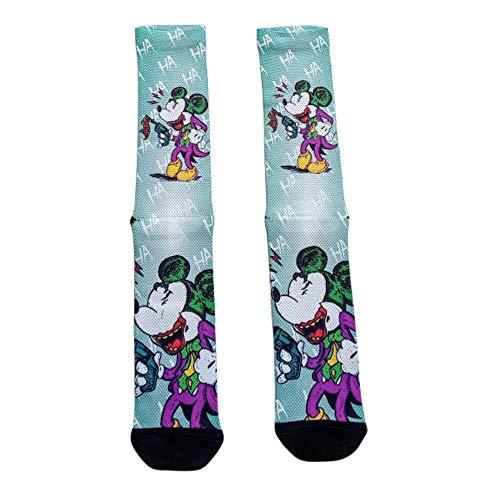 Meia Divertida Mickey Mouse Fantasia Meia Coringa Especial Desenho do tecido:Mickey;Tamanho:UN;Cor:Azul