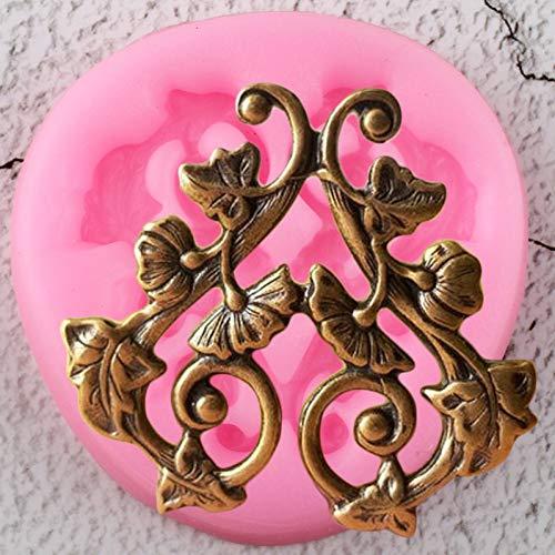 JLZK Blätter Vine Border Silikonformen DIY Scroll Relief Cupcake Topper Fondant Kuchen Dekorationswerkzeuge Candy Chocolate Moulds