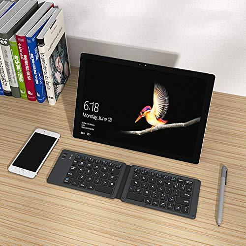 VNFWLDM Faltbare Bluetooth-Tastatur Mit Touchpad, Tragbarer Drahtloser Multi-Geräte-Tragbare Drahtlose Tastatur, Wiederaufladbares Ultra-Dünnes Taschen-Falttastatur Für Android Windows,F