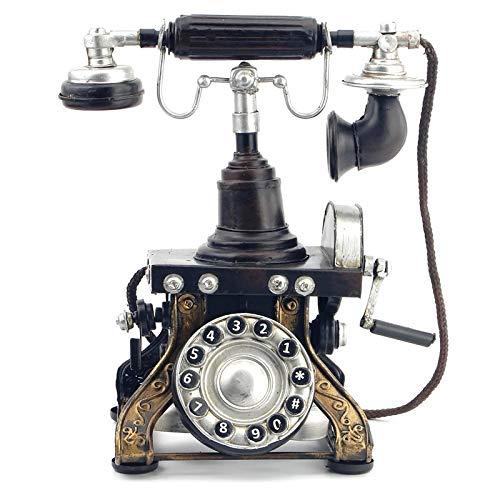YHYGOO Retro Altmodische Schmiedeeisen Flugzeug Modell Telefon Handwerk Antike Dekorationen Wohnaccessoires Nostalgische Möbel Voller Künstlerischen Geschmack