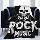 PATINISA Manta,Rock Stars Vintage and Roll tipográfico,Súper...