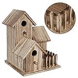 Meiyya 𝐂𝐡𝐫𝐢𝐬𝐭𝐦𝐚𝐬 𝐆𝐢𝐟𝐭 Casa para pájaros Resistente y Duradera, Proporciona refugios Caja Nido de pájaros no tóxica, para Golondrinas de pájaros