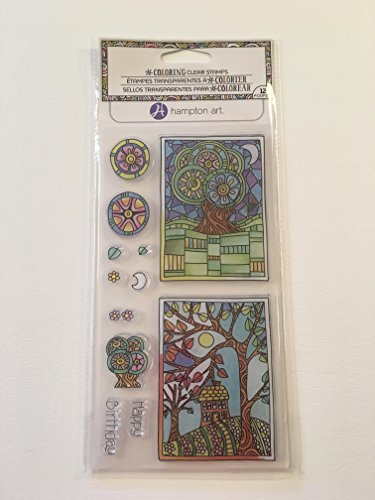Hampton Art Color Me Clear Stamps ~ Happy Birthday