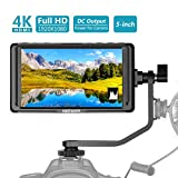 Neewer F5 12,7cm Cámara Monitor Campo Full HD 1920x1080 IPS con 4K HDMI 8,4V DC Entrada Salida Enfoque Máximo con Brazo Giratorio para Sony Nikon Canon Gimbal (Batería No Incluida)