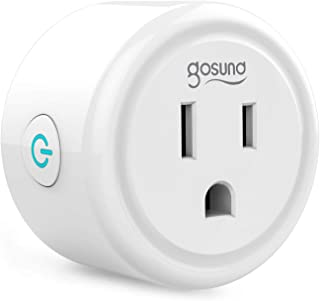 Mini Smart Plug Gosund Wifi Outlet Works with Alexa Google Assistant, No Hub Required, ETL and FCC Listed Only 2.4GHz Wifi Enabled Remote Control Wifi Smart Socket