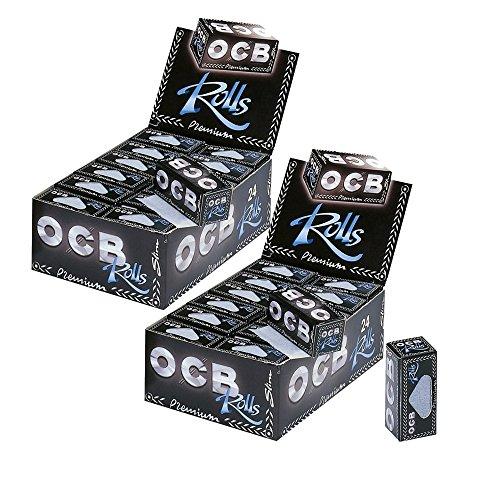 OCB Premium Rolls - Caja de 2 Rollos de Papel de Liar (24 Unidades)