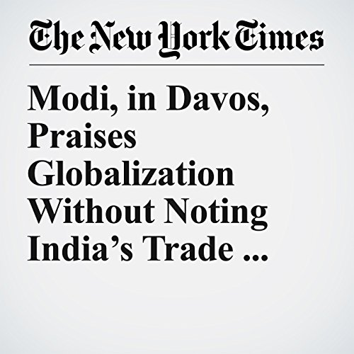 Modi, in Davos, Praises Globalization Without Noting India's Trade Barriers copertina