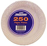 Paquete de 250 platos de papel de Caterpack color blanco, 18 cm
