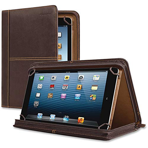 Solo New York Premiere Leather Universal Tablet Case, 8.5 Inch to 11 Inch, Espresso