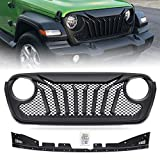 VZ4X4 Gladiator Grill Mesh Grille, Compatible with Jeep Wrangler JL 2018 2019 2020 2021