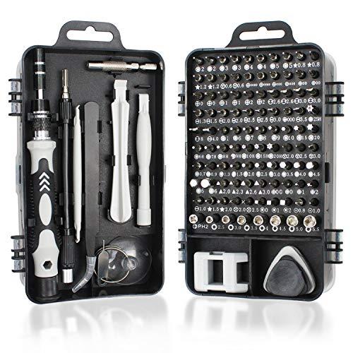 Juego de destornilladores de precisión, 115 en 1, kit de herramientas de reparación profesional con controlador magnético para teléfonos móviles, ordenadores portátiles, relojes, PS4, etc.