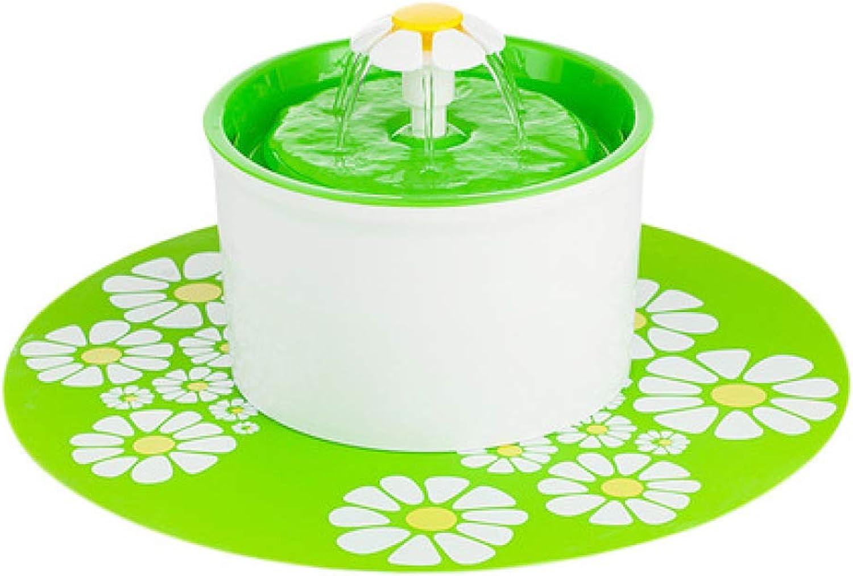LIUQIAN Cat water dispenser small flower pet waterer circulatory filter drinking water kettle water bowl
