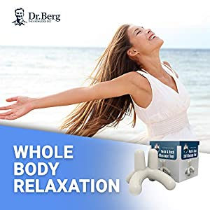 Dr. Berg's Self-Massage Tool, Best for Back Pain Relief, Handheld Neck and Lower Back Massager, Body Stress Reliever, Supports Healthy Sleep Cycles, Complete Package with Digital Video Tutorial