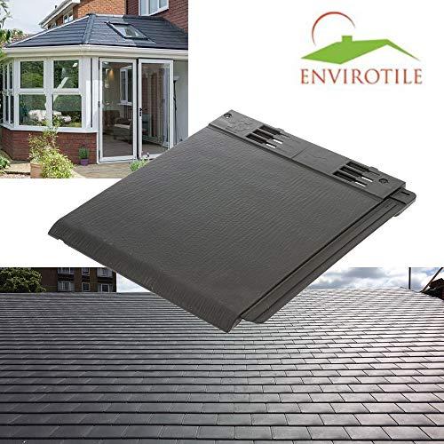 Envirotile Plastic Slates/Roof Tiles/Roof Shingles - Anthracite Grey - 5 Tile Pack