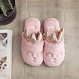 Flip Flop-GQ Piel sintética cálida y cómoda, Zapatillas Antideslizantes con Corona sólida Zapatillas Confortables de Espuma con Memoria para Damas @ Rose Pink_38-3
